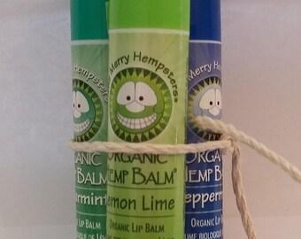 Organic Hemp Lip Balm 3 Pack