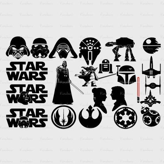 23 Star Wars Svg Collection Vader Svg Yoda Svg Star Wars