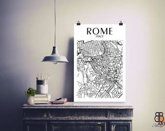 Rome, Rome Map, Rome Poster, Rome Italy, Map Of Rome, Rome Art, Rome Wall Art, Rome City Map, Rome Art, Rome Map High Quality Poster