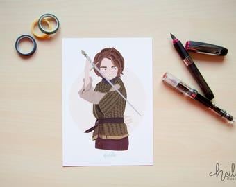 Print Arya Stark