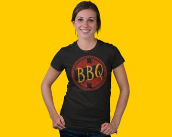Barbecue Shirt, BBQ Tee, Smoked Meat Tee, Grill Master T-shirt, Brisket Tshirt, Backyard BBQ Top, Barbecue Gift, Bar-B-Q Shirt, Women's Tee