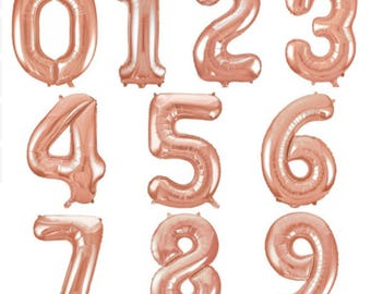 16-inch Rose Gold Number Balloons (0-9)