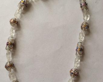 Vintage Murano Fiorato 'Wedding Cake' Necklace [SKU110]