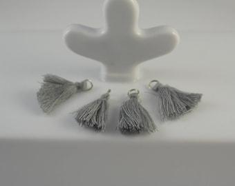 set of 4 gray tassels