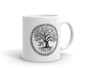 Tree of Life with Om Symbol Mug made in the USA