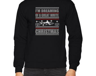 I'm Dreaming of a Great White Shark Ugly Christmas Sweater Sweatshirt