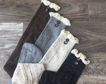 Lace Boot Socks, Boot Socks, Womens Lace Boot Socks, Boot Sock, Lace Socks, Boot Toppers, Lace Cuffs, Lace Toppers