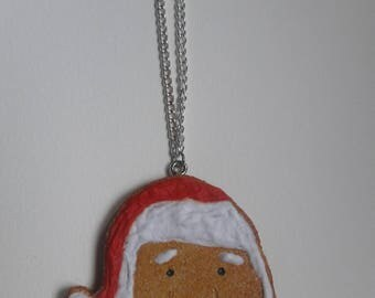 Santa Claus indeed cookie necklace