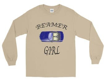 Beamer Girl distressed Unisex Spartees Long Sleeve T-Shirt