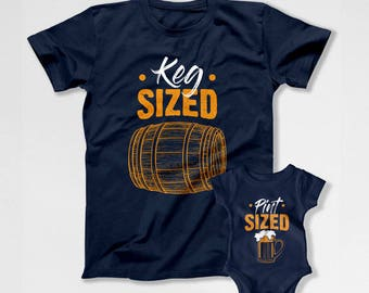 Matching Father Son Shirts Father And Son Gift Dad And Son Shirt Daddy And Me T Shirts Matching Set Family Outfits Beer Lover TEP-207-205