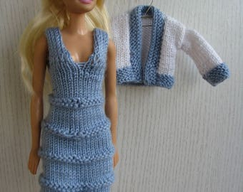 Handknitted set for Barbie, doll dress, Barbie fashion Clothes