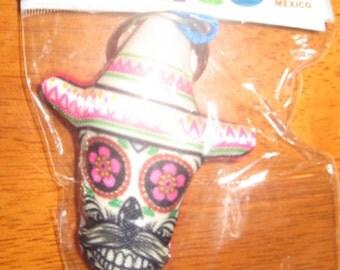 Marichi Mexican Sugar Skull Keychain