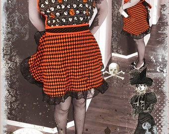 Vintage style apron – Nightmare Before Christmas - Jack Skellington