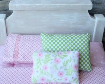 18 inch doll bed set, AG doll bedding, Custom doll bedding, Custom doll mattress, Doll bed mattress, Toy Mattress, Doll sized blanket