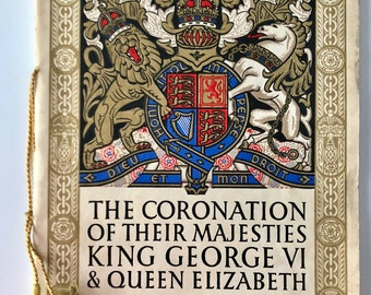 Oficial souvenir programme of the coronation of King George VI and Queen Elizabeth