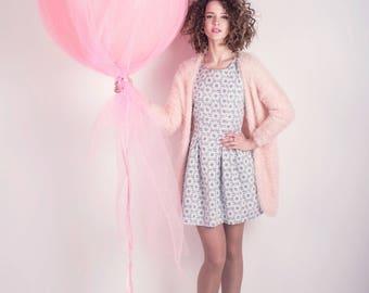 """Jumbo 36"""" Pearl Pink Balloon - Tulle Pink Balloon - Pink Birthday Balloon"""