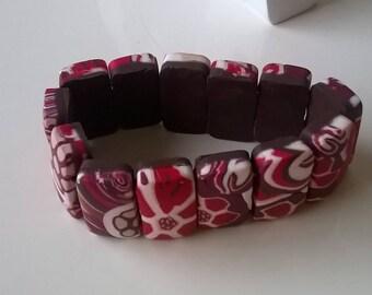 Bracelet elastic 15 cm - polymer clay
