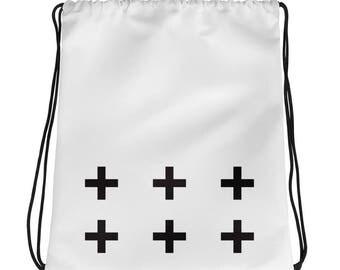 shoulder bag, drawstring bag, plus bag, cross bag, minimalist bag, simple bag, white space, trending bag