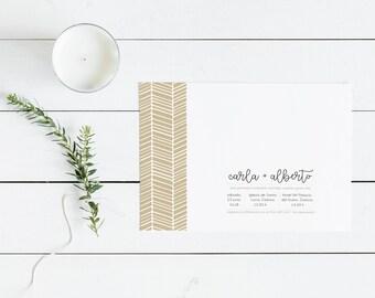 Printable Wedding Suite | Kit de Invitación de Boda Imprimible | Invitation Set