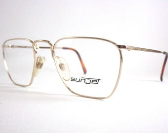 Original vintage Eyeglasses Sunjet By Carrera  Mod.5201 Col.Gold