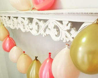 Mini Balloon Garland Kit- Pinks and Gold