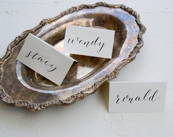 Hand Written Place Cards - Calligraphy Place Cards - Folded Place Card - Wedding Place Cards - Modern Calligraphy - Wedding Paper