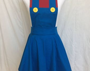 Mario Apron- Cosplay Apron- Video Game Apron- Character Apron- Gamer Gift