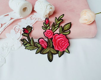 peony patch/rose patch/flower /iron on patch/embroidered/diy/applique /gorgeous/patch for jacket