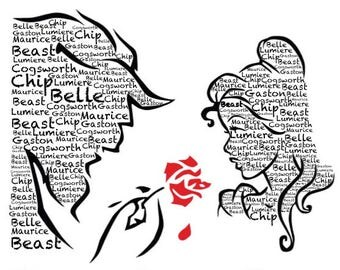 Beauty The Beast Inspired Word Art