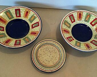 "2 Pfaltzgraff Sedona 9"" Salad Plates and 1 Sedona 6"" cup plate"