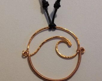 Copper Wave Necklace