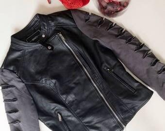 Faux Leather Moto Jacket in size Medium
