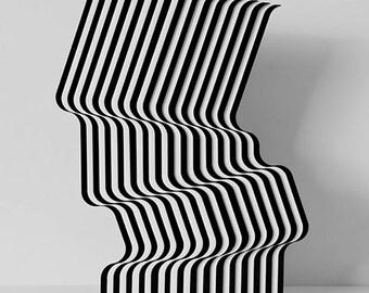 Scultura in plexiglass Arte cinetica programmata optical art