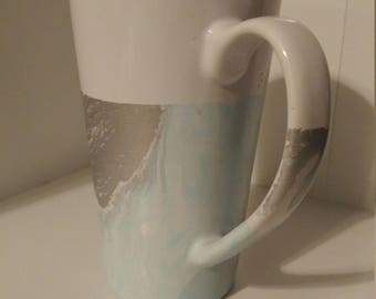 Marbled Coffee Cup - Hand Dipped