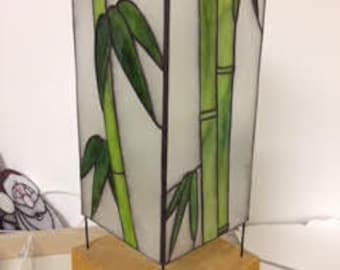 bamboo stained glass lantern