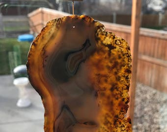 Brazilian agate window hanger