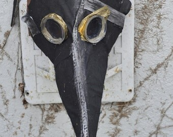plague doctor mask mardi gras paper mache steampunk costume creepy scary LARP medieval masquerade renaissance cool handmade carnival bubonic