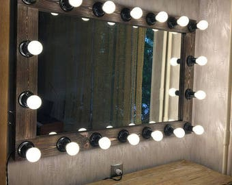 Vanity Mirror with lights, Hollywood mirror, Mirror with lamps