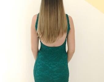 Iva green MIDI dress
