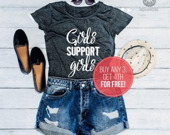 Girls support girls shirt, Feminist shirt, Feminism shirt, Girl support girls t-shirt, Feminist T-shirt