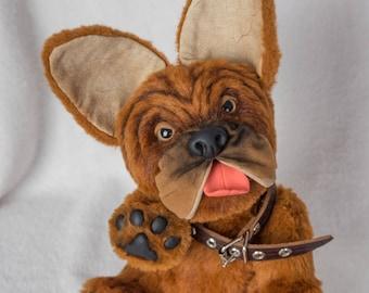 Teddy stuffed red French bulldog