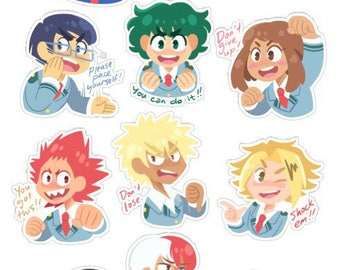 Boku no Hero Academia: Hero Support Kiss-Cut Sticker Sheets