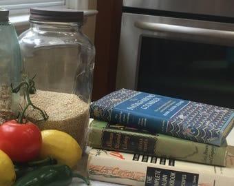 Set of three vintage cookbooks