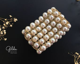 Pearl Bracelet with chains