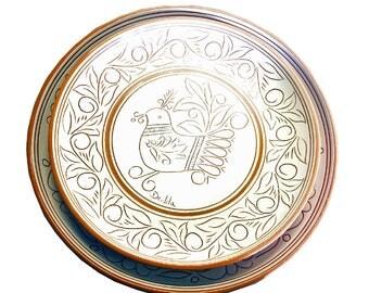 Set of 2 ceramic plates-decorated according to Sardinian tradition