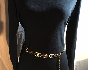 1960's Vintage gold chain belt