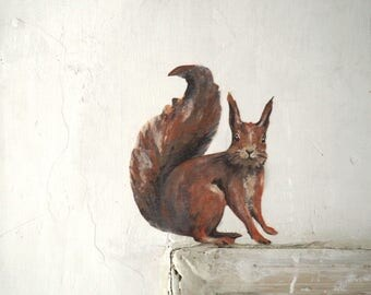 Life-Size Squirrel Wall Decal Drawing Sticker