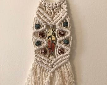 Macrame key chain, zipper pull