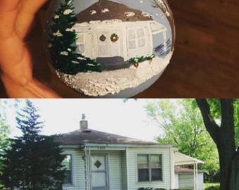 Hand Painted House Ornament