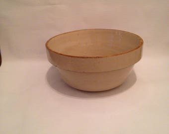 Vintage Stoneware Bowl with Salt Glaze